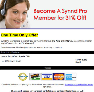 SYNND Pro discount