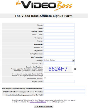 Join Video Boss Affiliate Program