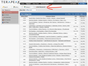 research profitable products using terapeak hot research module eBay Business – How to Sell on eBay to Make Money