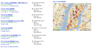 Google Plus Local - captures most prominent space in SERP's